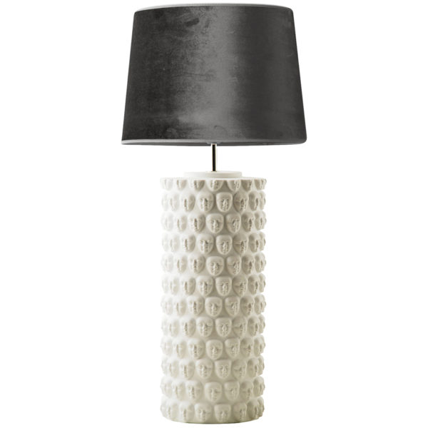 The Faces Table Lamp - Large in Black or White