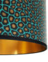 Senzo Spot Animal Print Lampshade With Gold Lining