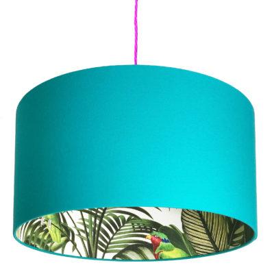 Blue Lamp Shades Handmade To Order, Blue And Green Lamp Shade
