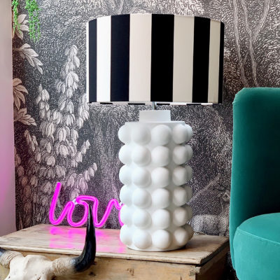 lovely bubbly bubble lamp in white