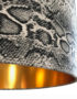 Serpent Snakeskin Linen Lampshade With Gold Lining