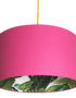 Tropical Jungle Silhouette Lampshade in Watermelon Pink
