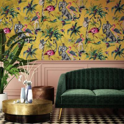 Muck N Brass ChiMiracle Wallpaper - Mustard