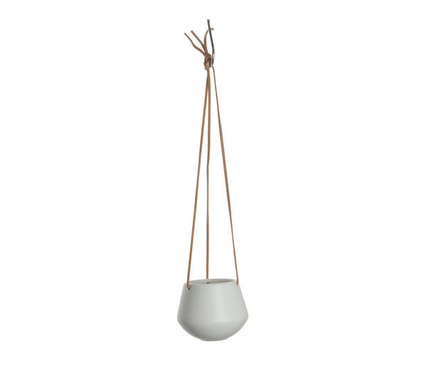 Small Ceramic Hanging Pot In Mustard Or White