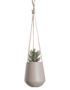 Medium Ceramic Hanging Planter in Matt Pink