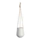 Medium Ceramic Hanging Planter In Mustard Or White
