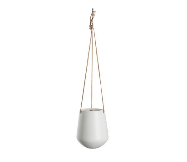 Medium Ceramic Hanging Planter In Mustard Or White