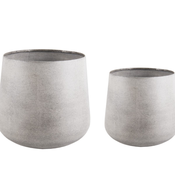 Light Grey Steel Planters - Small or Large