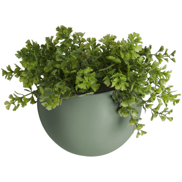 Wall Hung Ceramic Planter - Matt Green