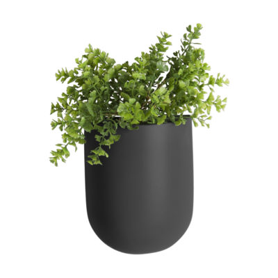 Black Oval Wall Planter