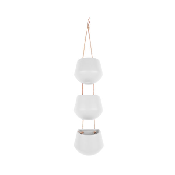 3 in a Row Hanging Planters Available in Black or White