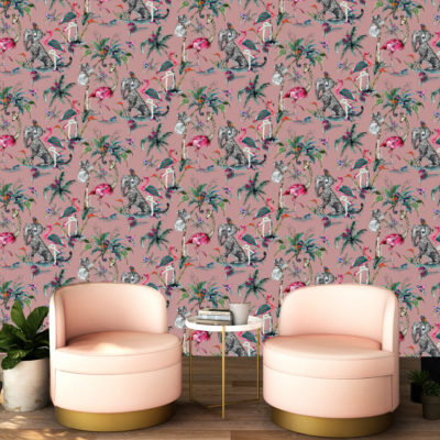 Muck N Brass ChiMiracle Wallpaper - Pink