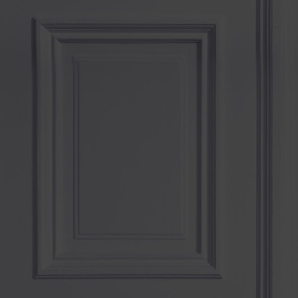Anthracite Grey Panelling Wallpaper - Young & Battaglia