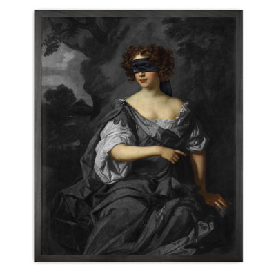 Mineheart Blindfold Portrait - 1 Framed Canvas Artwork