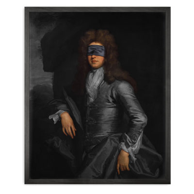 Mineheart Blindfold Portrait - 3 Framed Canvas Artwork