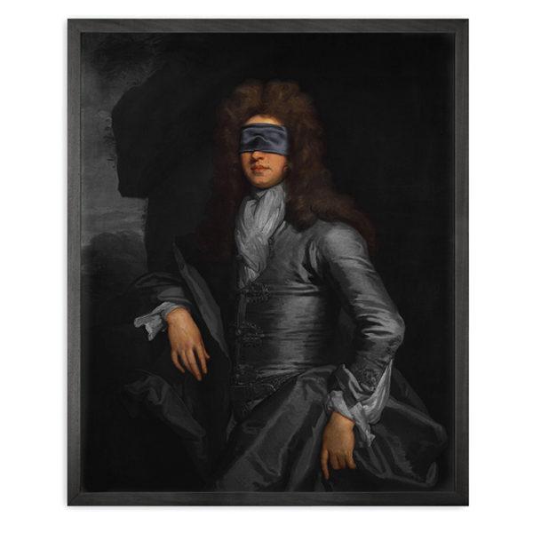 Mineheart Blindfold Portrait - 3 Framed Canvas Artwork