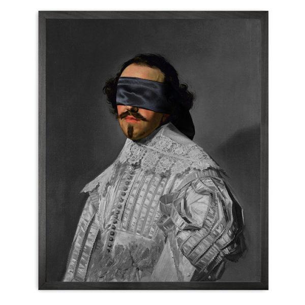 Mineheart Blindfold Portrait - 5 Framed Canvas Artwork