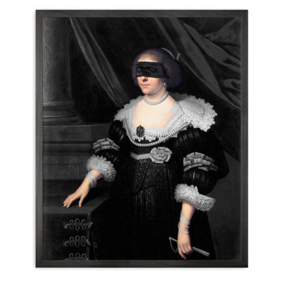 Mineheart Blindfold Portrait - 7 Framed Canvas Artwork