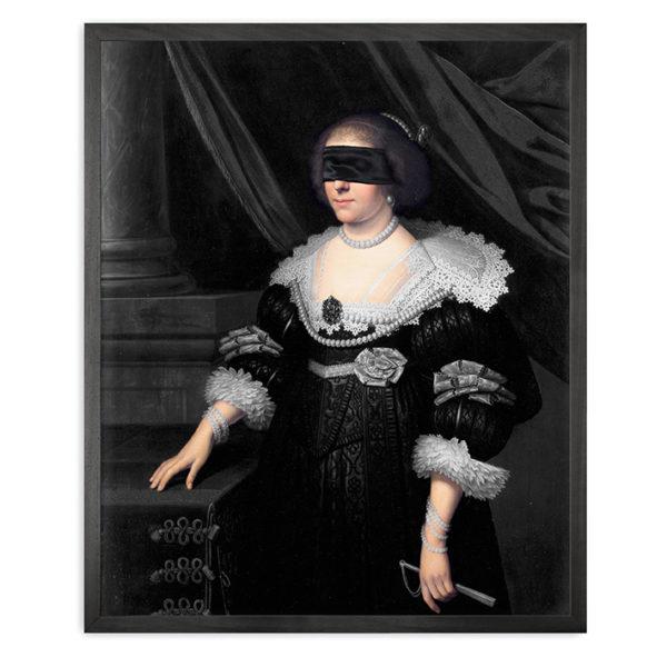 Mineheart Blindfold Portrait - 7 Framed Canvas Artwork