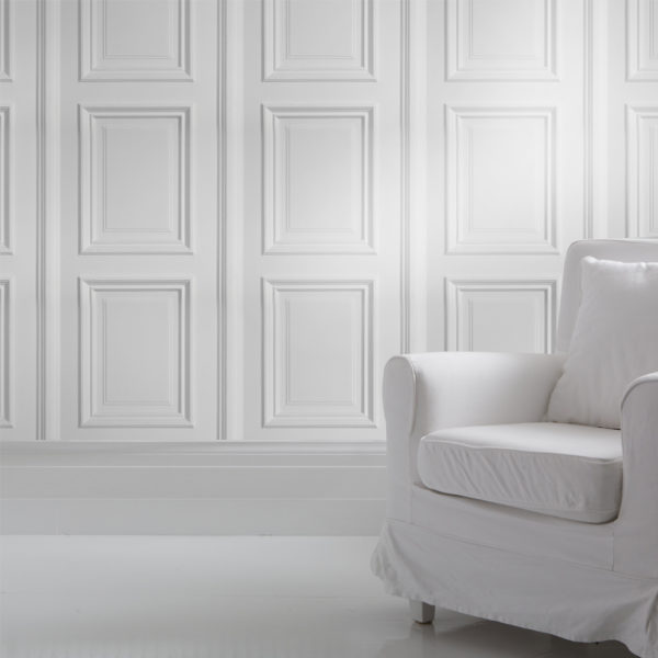 White Panelling Wallpaper - Young & Battaglia
