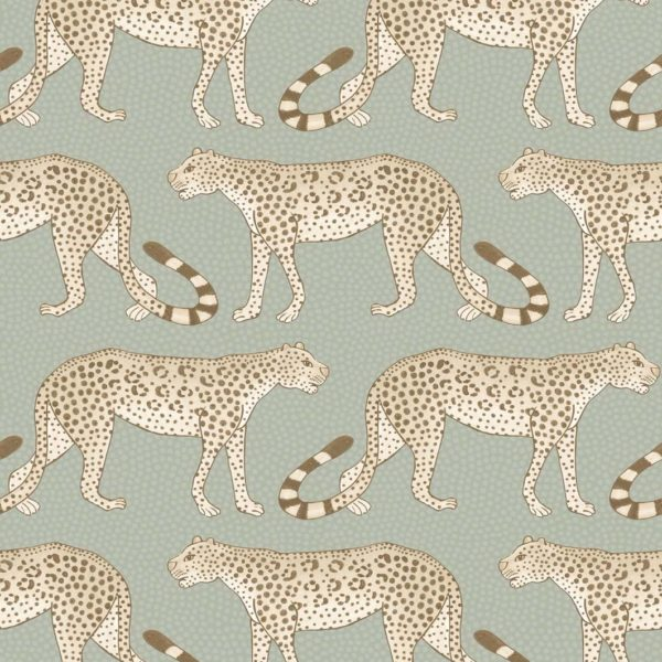Cole & Son Ardmore Collection: Leopard Walk - 109/2009 White and Olive