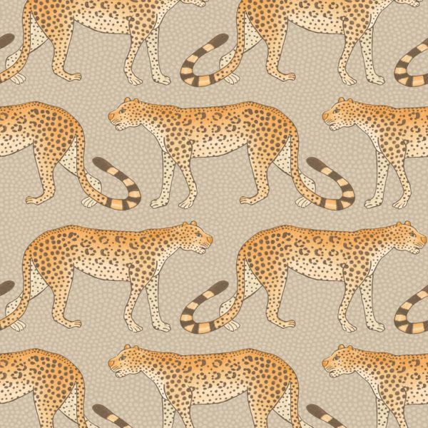 Cole & Son Ardmore Collection: Leopard Walk - 109/2010 Orange and Stone