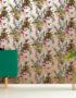 Kooky Lemur Wallpaper in Rose Gold
