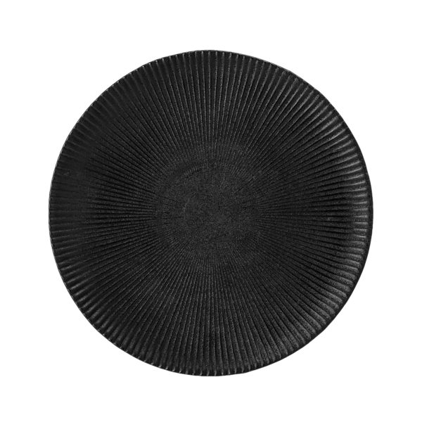 Artisan Charcoal black ribbed Side Plate