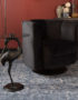 Crane Side Table in Black with Glass Top dimensions