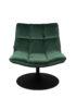 Velvet Lounge Chair in Forest Green