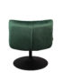 Velvet Lounge Chair in Forest Green