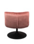 Luxe Velvet Lounge Chair in Dirty Blush Pink