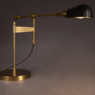 Art Deco Inspired Black and Brass Desk Lamp