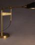 Art Deco Inspired Black and Brass Desk Lamp