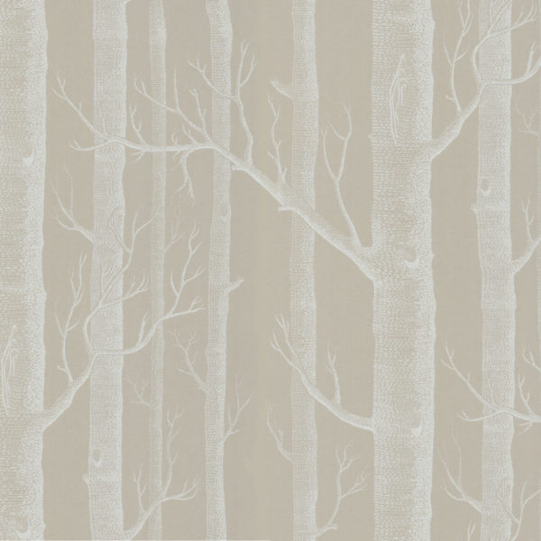 Cole & Son New Contemporary: The Woods Wallpaper Brown on Silver Foil 69/12149