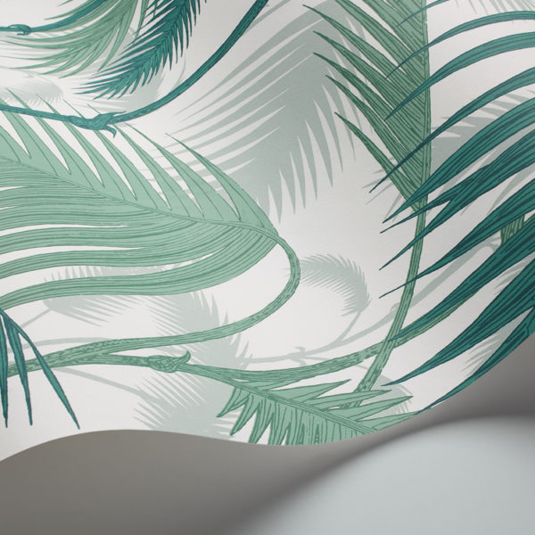 Cole & Son Palm Jungle wallpaper in Emerald Green 95/1002