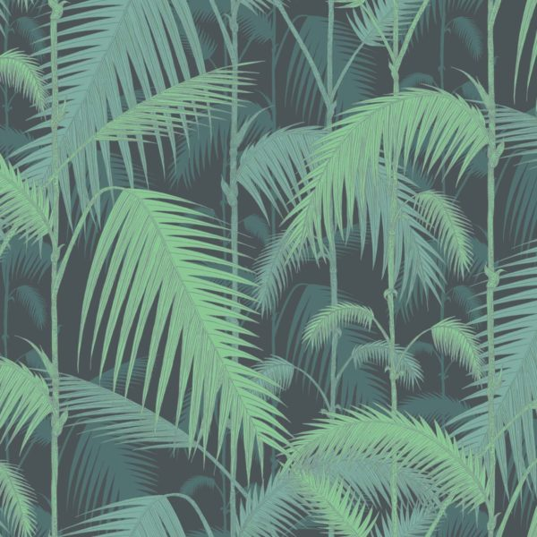 Cole & Son Palm Jungle wallpaper in Midnight 95/1003