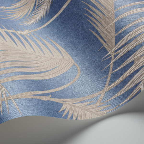 Cole & Son Palm Jungle wallpaper in Blue 95/1006