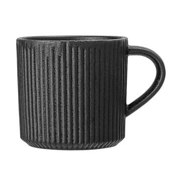 Jet Black Textured Mug