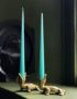 Elegant Tapered Candle in Aqua