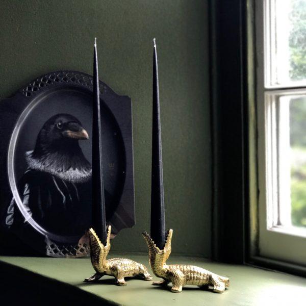Elegant Tapered Candles in Black