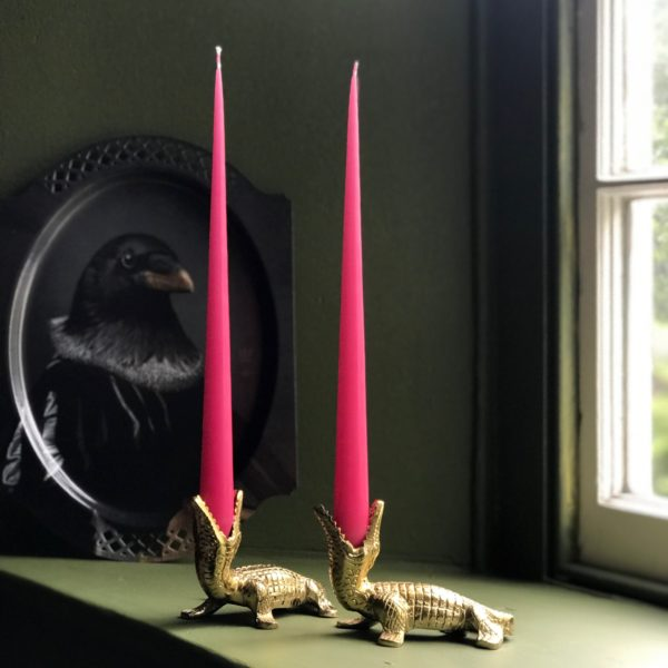 Elegant Tapered Candles in Bubblegum