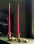 Elegant Tapered Candles in Bubblegum