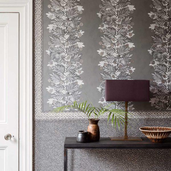 Cole & Son Ardmore Collection Senzo Spot Wallpaper - Black & White - 6031