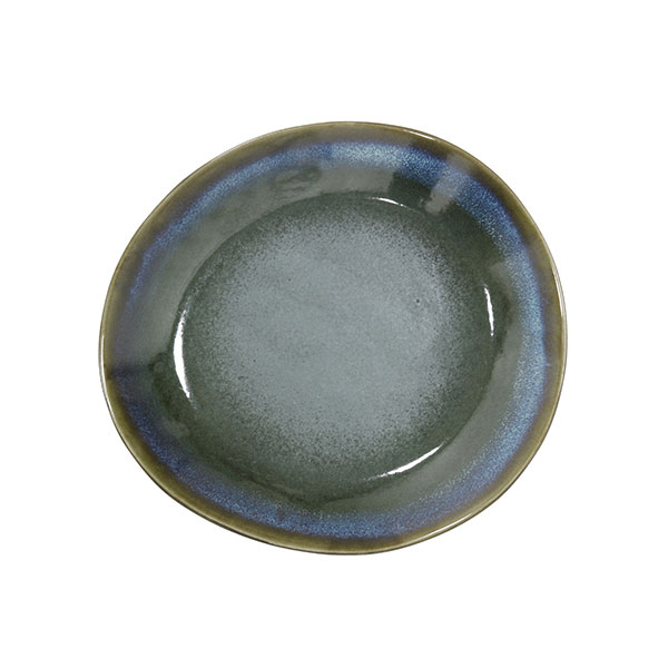 Vintage inspired 70s small side plate in moss