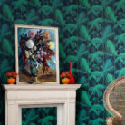 Cole & Son Palm Jungle wallpaper in Midnight