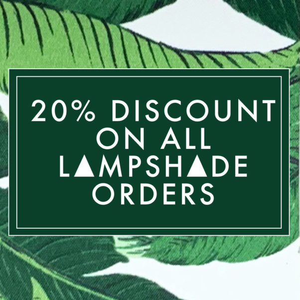 Tropical Lampshade launch with 20% discount on all lampshade orders