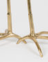 Luxe Gold Heron Side Table - Feet Close up
