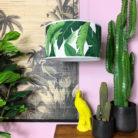 Handmade Tropical Drum Lamp Shade in Banana Leaf