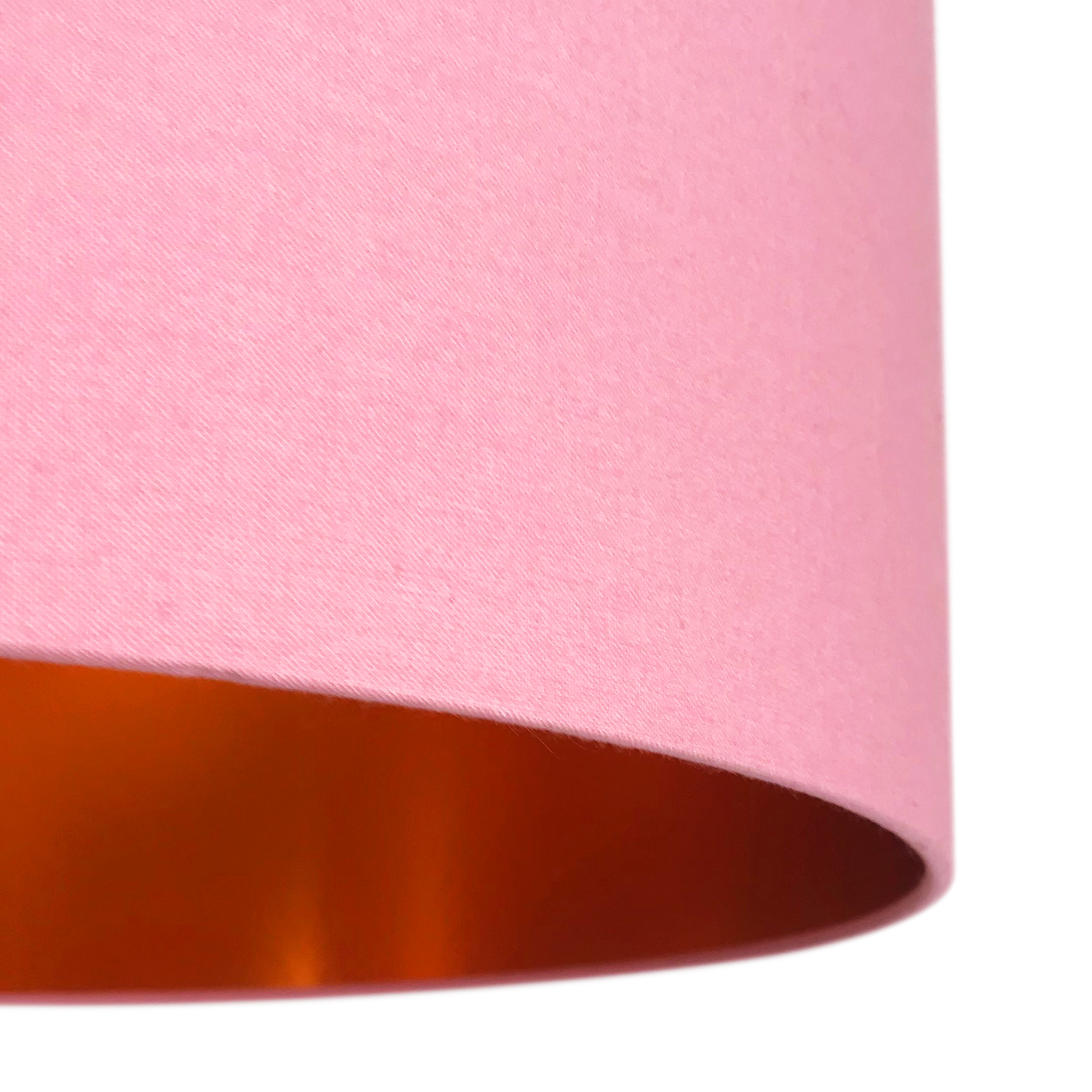 Dirty Pink Cotton Lampshade With Copper Foil Lining Love